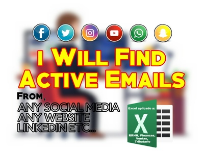 Find business emails from any sociial media or website