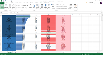 Create an Excel spreadsheet with up to 60 rows of data