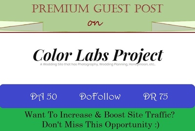 Guest Post on ColorLabsProject.com, Wedding/Lifestyle Blog-DR 75