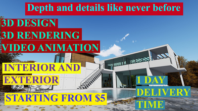 Make 2D AutoCAD drawings and do 3D rendering
