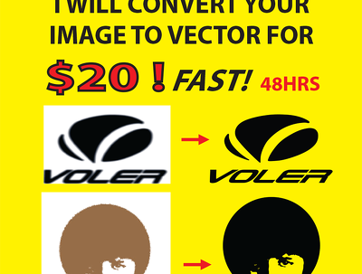 Redraw your logo image to quality VECTOR
