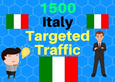Provide 1,500 ITALY Web Traffic Visitors