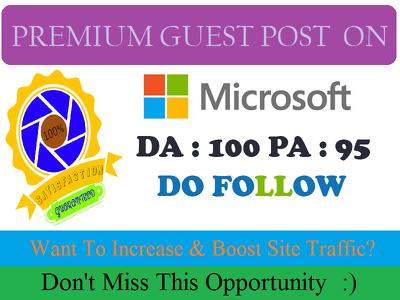 Publish Dofollow Guest Post On Microsoft, Microsoft.com DA100