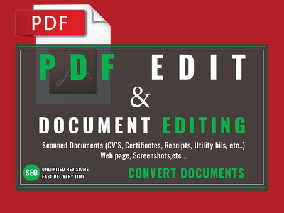 Edit PDF or convert any other type of document into pdf