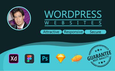 Create a Wordpress Custom theme from PSD, XD or Sketch