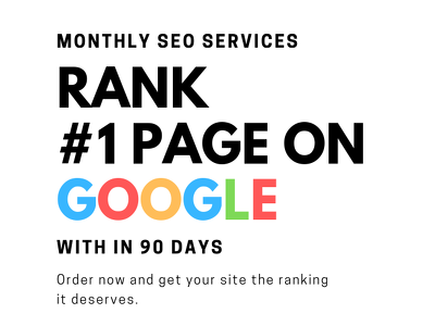 do monthly SEO service for google #1 page ranking