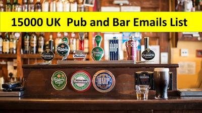 Provide 15k UK Pubs & Bars Emails List
