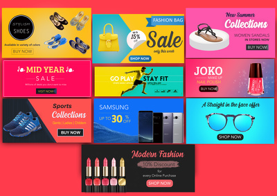 Design your website banner and shopify store banner