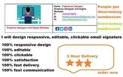 Design Clickable, Editable, and Responsive Email Signature