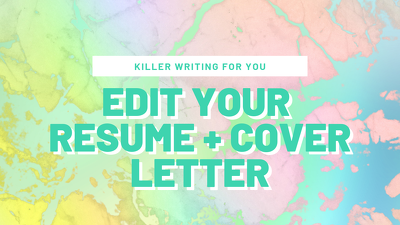 Edit your resume and cover letter