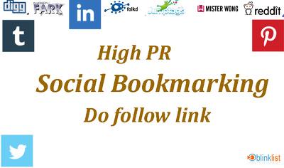 Make high DA social bookmarking do follow link.