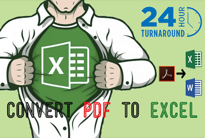 Convert Pdf To Excel upto 25 pages