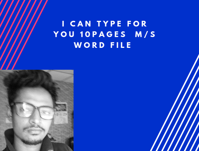 Typing for you 10 page any kinds of  ms word documents