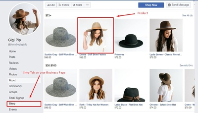 Create a Facebook Store/Shop for your business