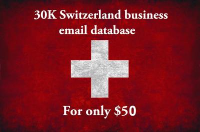 Provide you 30k Switzerland business (b2b) email database