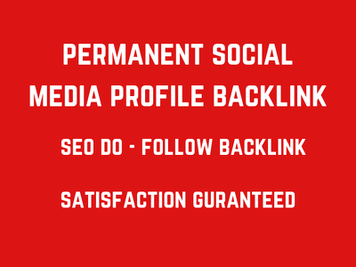 Create 50 pr9 da 90 dofollow profile backlinks