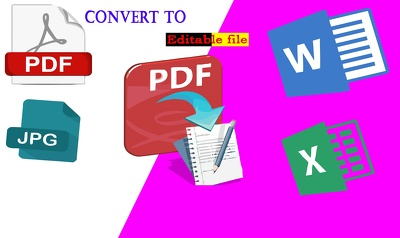 Image To Text,I Will Convert Any PDF File To Text.PDF to word,