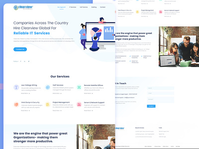 Create one page UX Design For Web Template