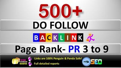 Create 500+ Do-Follow PR 3 to 9 Backlinks