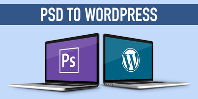Develop PSD to WordPress using elementor pro (included)
