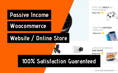 Create Passive Income Woocommerce Online Store/ Website