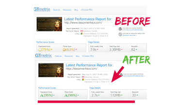 Speed optimizatation of your Wordpress Website
