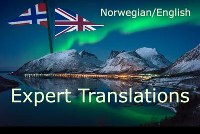 Provide expert translations, Norwegian to English and vice versa