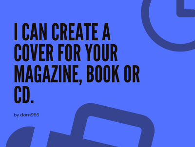 I can create poster, planner, magazine, book cover