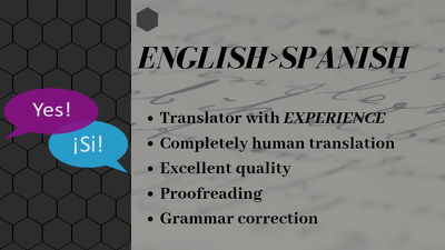 Translate 500 words from English into Spanish, delivery < 24 hrs