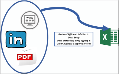 Provide data entry services - 200-300 entries