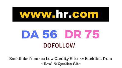 Guest Post on Hr.com DA56 DR75