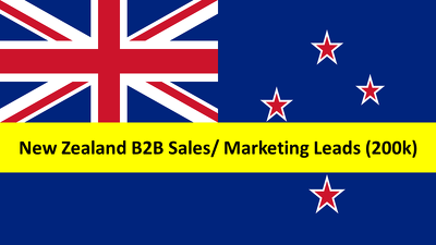 Provide 200k New Zealand Database/Leads/ Email for your Business