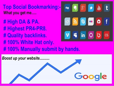 Propose  30 High Quality Social Bookmarking Backlinks