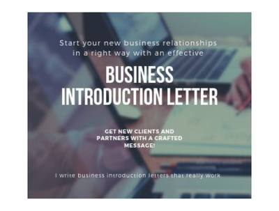 Write a business introduction letter that really works