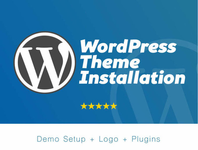 Install wordpress, theme as like demo