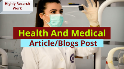 Write Health Medical and Science Articles