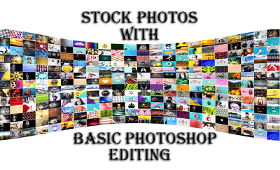 Provide 5 stock photos with basic editing
