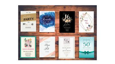 Design unique invitation cards for any special event