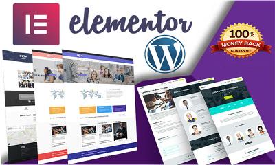 Elementor website design and Development
