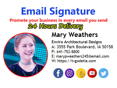 Do Clickable Icon Email Signature