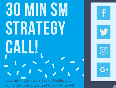 Provide a tailored social media marketing strategy