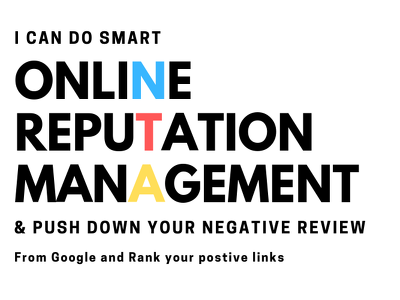 be Your Online Reputation Manager