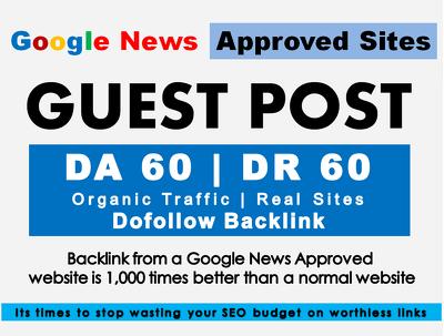 Write & Post On DA 60 G News Approved Marketbusinessnews.com