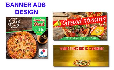 Design  youtube banner , facebook banner , banner ads in 24 hour