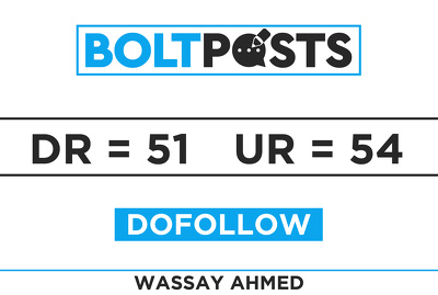 Provide a Homepage Guest Posting on Bolt Posts with DR 50+