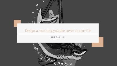 Design logo for your youtube or social media