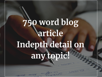 Write a high-quality SEO article or blog post of 750 words