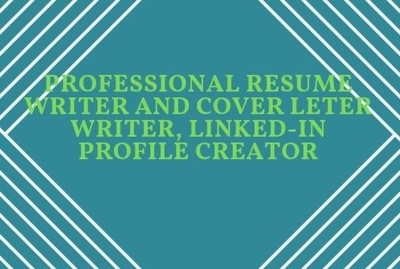 Professional Resume writing, CV and Cover Letter writing