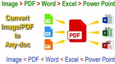 Convert any file image or pdf  to word less than 06 pages