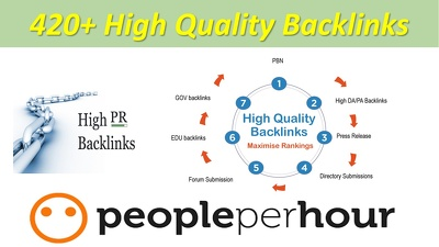 420+ High Quality Back-links service for website Top Ranking